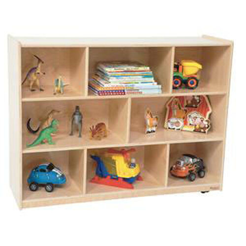 Our Mobile Healthy Kids Plywood Storage Unit with Casters - Assembled - 48