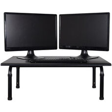 Adjustable Height Steel Frame Desktop Standing Desk - Black - 32