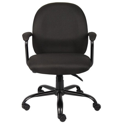 Our Heavy Duty 300 lb Capacity Black Crepe Task Chair - Black is on sale now.