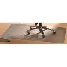 48''W x 118''L Cleartex Rectangular Advantagemat PVC Chair Mat Hard Floor and Carpet Tiles