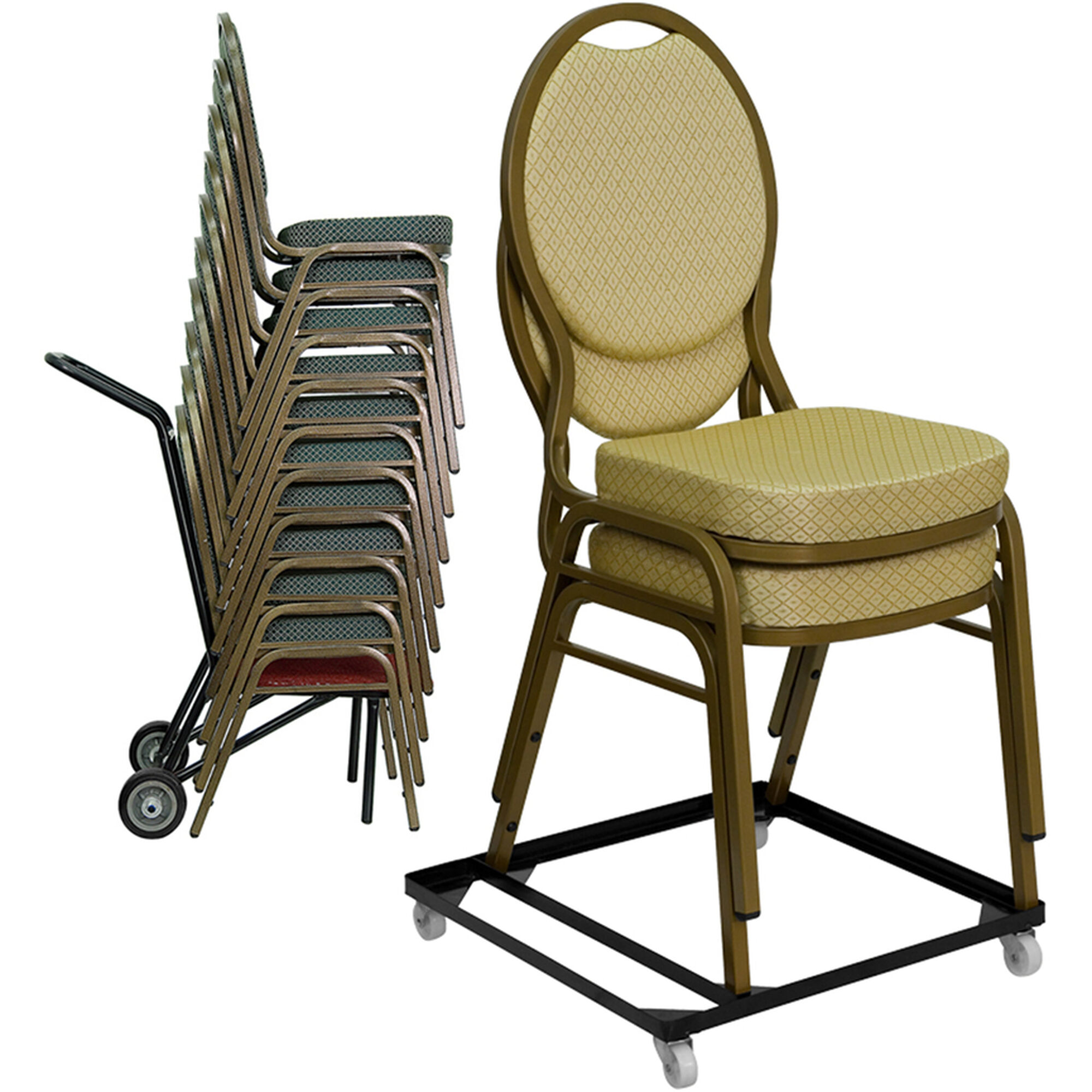 black stack chair dolly pack stack dollies gg. Black Bedroom Furniture Sets. Home Design Ideas