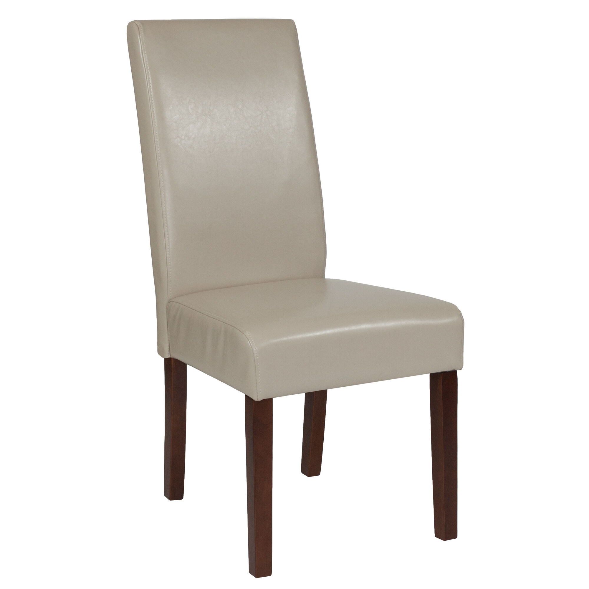 Remarkable Greenwich Series Beige Leather Parsons Chair Creativecarmelina Interior Chair Design Creativecarmelinacom