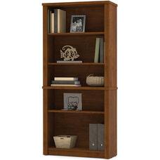 Embassy Modular 5 Shelf Bookcase with Adjustable Shelving - Tuscany Brown