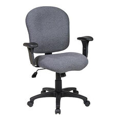 Work Smart Sculptured Task Chair with Adjustable Arms and Casters