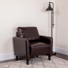 Candler Park Upholstered Chair in Brown LeatherSoft