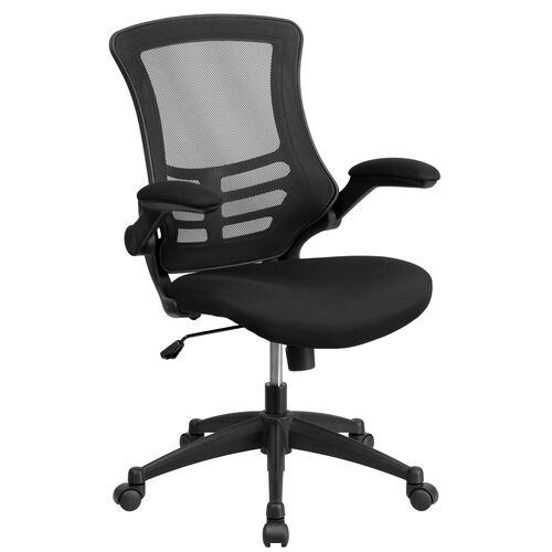 Our Mid-Back Mesh Swivel Task Chair with Flip-Up Arms is on sale now.
