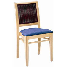 597 Stacking Chair w/ Upholstered Seat - Grade 1