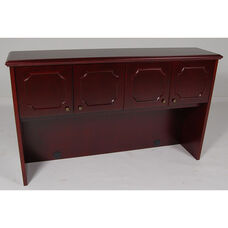 4-Door Wood Veneer Hutch in Mahogany Finish