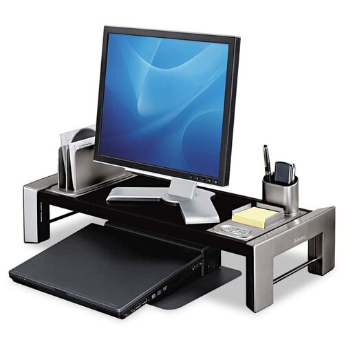 Fellowes® Professional Series Flat Panel Workstation - 25 7/8 x 11 1/2 x 4 1/2 - Black/Silver