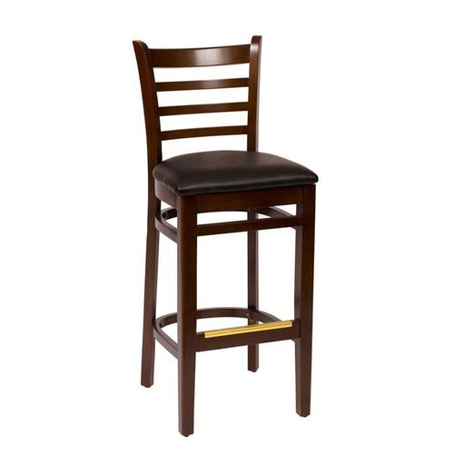 Our Burlington Walnut Wood Ladder Back Barstool - Vinyl Seat is on sale now.