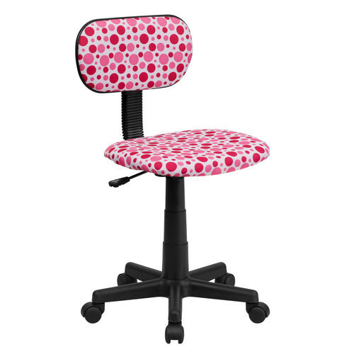 Our Pink Dot Printed Swivel Task Office Chair is on sale now.