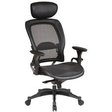 Space Matrex Mesh Back and Seat Executive Office Chair with Headrest and Adjustable Arms