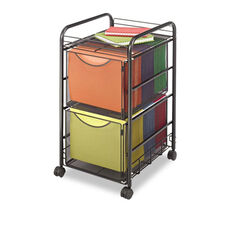 Safco® Onyx Mesh Mobile Double File - One-Shelf - 15-3/4 x 17 x 27 - Black