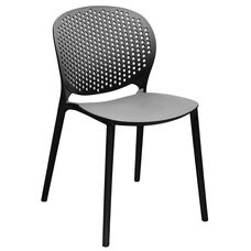 Muut Black Modern Stackable Side Chair - Set of 4