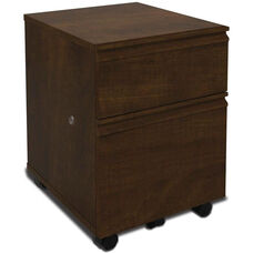 Prestige + Mobile Pedestal with Locking Drawers and Casters - Chocolate