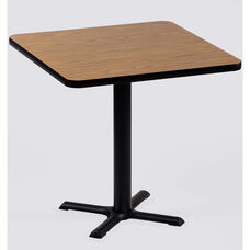 Laminate Top Square Cafe Table with 29''H Cast Iron X-Base - 24''D x 24''W