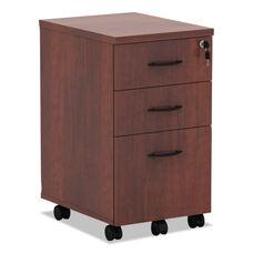 Alera® Valencia Mobile Box/Box/File Pedestal File - 15 7/8 x 20 1/2 x 28 3/8 - Med Cherry
