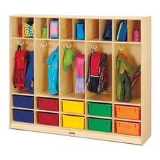 Large Locker Organizer - 10 Colored Tubs