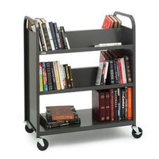 Double Sided Duro Book Truck with Combo Shelves - 36''W x 18''D x 43''H