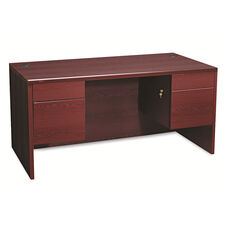 HON® 10500 Series 3/4-Height Double Pedestal Desk - 60w x 30d x 29-1/2h - Mahogany