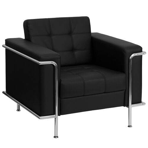 Our HERCULES Lesley Series Contemporary Black Leather Chair with Encasing Frame is on sale now.