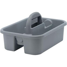13''W x 18''D Plastic Tool Caddy with Handle - Gray