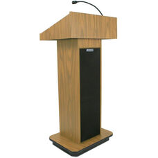 Executive 150 Watt Sound Column Lectern - Oak Finish - 22