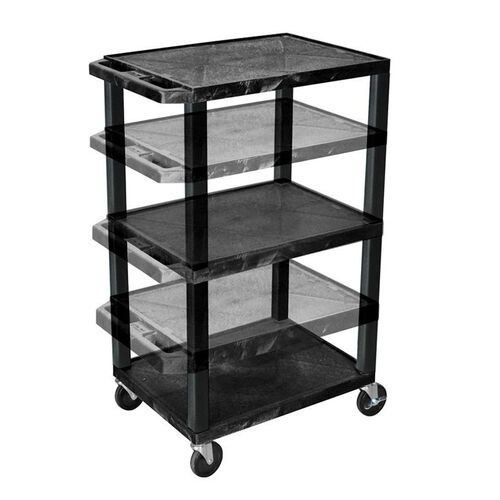 Adjustable Height Utility Cart with Black Legs