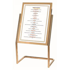 Menu and Poster Holder - Brass Base and Frame