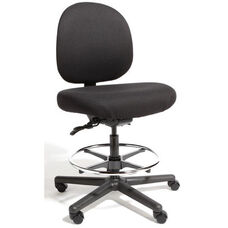 Triton Max Large Back Mid-Height Drafting Chair with 500 lb. Capacity - 4 Way Control