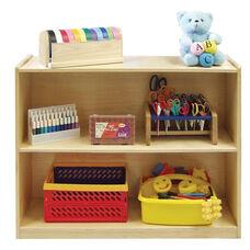 Birch Hardwood Two Shelf Storage Cabinet with Back - 36