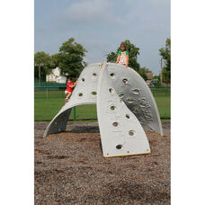 Aztec Play Climber with Four Weather and Fade Resistant Polyethylene Twisting Climbing Walls - 132