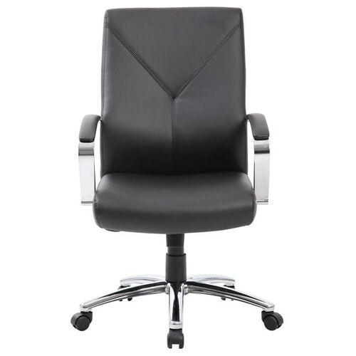 Our LeatherPLUS Executive Chair with Chrome Base and Casters - Black is on sale now.