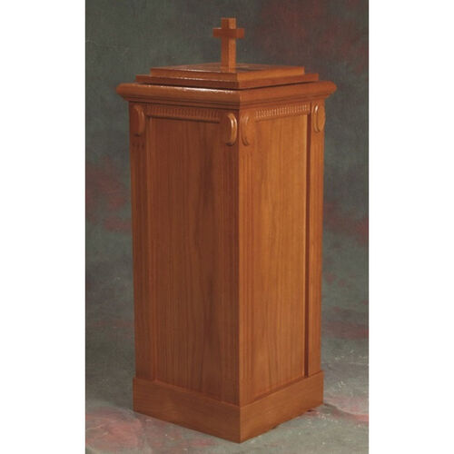 Our Stained Red Oak Baptismal Font with Accents and Fluted Column Corners is on sale now.