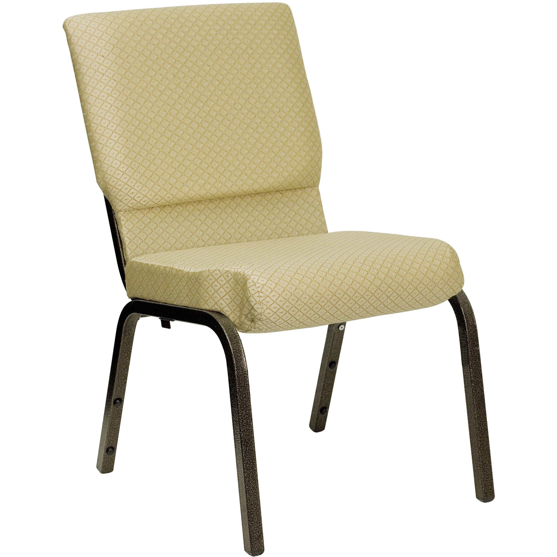 Flash Furniture HERCULES Series 18.5u0027u0027W Stacking Church Chair In Beige  Patterned Fabric   Gold Vein Frame XU CH 60096 BGE GG |  ChurchChairs4Less.com