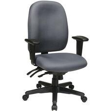 Work Smart Ergonomic High Back Chair with Ratchet Back Adjustment