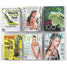 Clear2c™ Six Magazine Display with Break Resistant Plastic Pockets - Clear