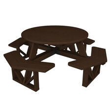 POLYWOOD® Commercial Collection Park Octagon Table - Mahogany