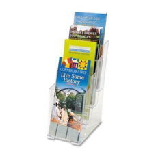 Deflecto 4 Tier Literature Holder - Leaflet - 4 7/8