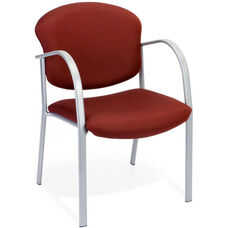 Danbelle Fabric Guest and Reception Chair - Burgundy