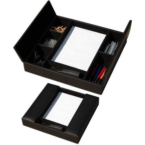 Our Classic Leather Enhanced Conference Room Organizer - Black is on sale now.