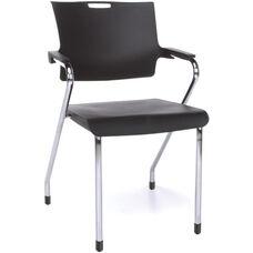 Smart 300 lb Capacity Stack Chair - Black