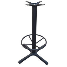 4 Prong Cast Iron Bar Height Table Base with 22''D Footring