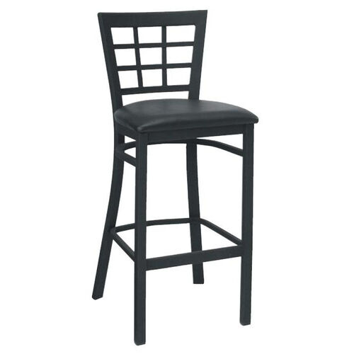 Our Window Back Metal Barstool - Grade 4 Vinyl is on sale now.