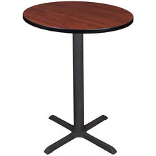 Cain 30'' Round Laminate Cafe Table with PVC Edge - Cherry
