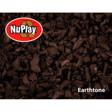 NuPlay Recycled Rubber Loose Fill Mulch - Earthtone - 75 Cubic Feet