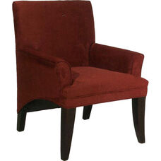 5051 Upholstered Lounge Chair w/ Tapered Wood Legs - Grade 1