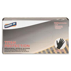 Genuine Joe Titan Nitrile Powder Free Industrial Gloves - Disposable - Large