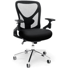 Stratus 24-Hour Big & Tall Mesh Chair - Black