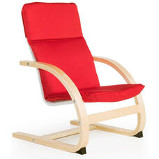 Nordic Rocker with Removable Cushion and Steam-Bent Plywood Construction - Red - 20